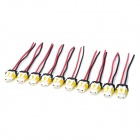DIY 9006 Socket Bulb Connectors - White + Yellow (10 PCS)