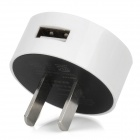 USB US-Stecker-Adapter für Nokia Lumia 920 / Samsung / iPhone - Weiß (100 ~ 240V)