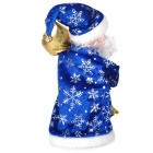 Rotary Santa Claus Hanging Gift Bag Style Music Toy - Blue + White (2 x AA)