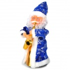 Rotary Santa Claus Playing Saxophone Style Music Toy - Blue + White (2 x AA)