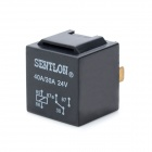 SENTLON 40A 5-Pin Car Power Relay - Black (24V)