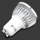 GU10 3W 280LM 6000K White 3-LED Spot Light Bulb - Silver (85~250V)