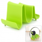 Creative Wave Style PP Lid Rack Mount Holder - Green