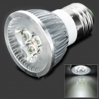 E27 3W 280LM 6000K White 3-LED Spot Light Bulb - Silver (85~250V)