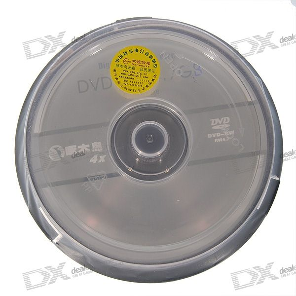Quality Assured 4.7GB 4X DVD-RW Rewritable (10-Disc Spindle)