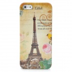 Eiffel Tower Pattern Protective Back Case + SIM Card Adapter for Iphone 5 - Yellow + Pink + Green