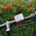 "Roswheel 81487 1.5"" LCD Waterproof Wired Backlight Bicycle Computer - Red + White"
