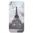 2-in-1 Eiffel Tower Pattern Protective Back Case + SIM Card Adapter for Iphone 5 - Brown + White