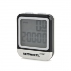 "Roswheel 81487 1.5"" LCD Waterproof Wired Backlight Bicycle Computer - Black + White"