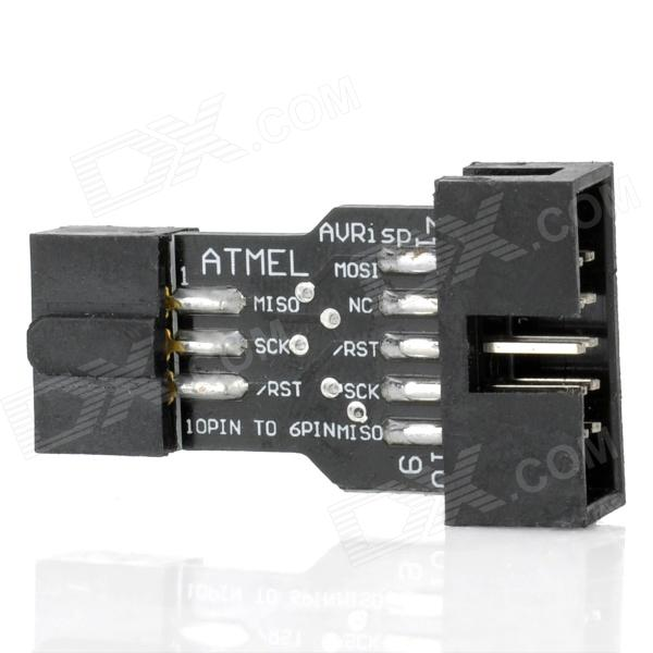 ATMEL ISP Programmer 10 Pin to 6 Pin Convertor - Black