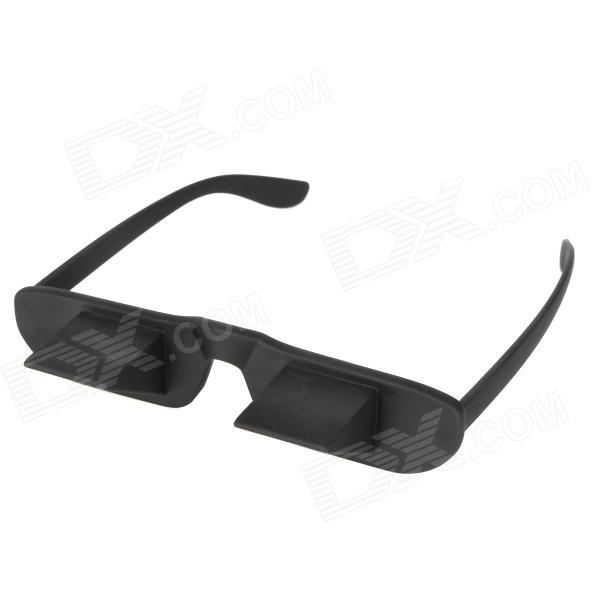 Creative High Definition Horizontal Crystal + Plastic Lie Down Glasses - Black