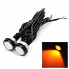 DianZi 3W-YELLOW 3W 110lm LED Orange Light Car Eagle Eye Backup Lamp (12V / 75cm / 2 PCS)