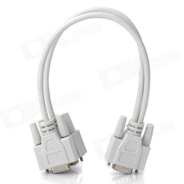 VGA Male to Female 1-to-2 Cable Splitter - White (24cm) fqpf9n50 to 220f