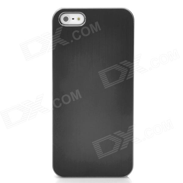Protective Aluminum Alloy Wiredrawing Back Case for Iphone 5 - Black
