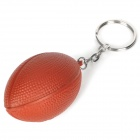 Creative American Football Shaped Sponge + Stainless Steel Keychain - Brown