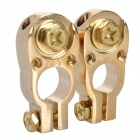 LeiGe LGB-38 Car Battery Terminal Clamp - Golden (2 PCS)