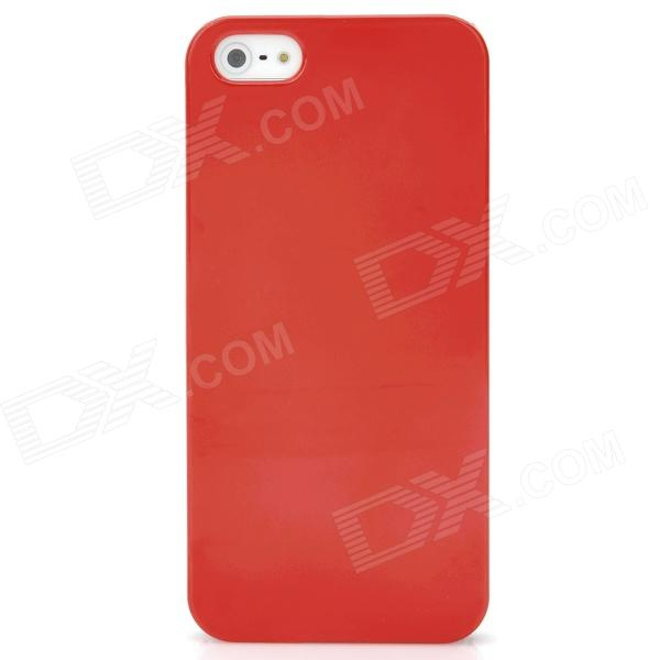 Protective Ultra-Thin Plastic Back Case for Iphone 5 - Red sldpj stylish ultra thin protective pu leather case cover w visual window for iphone 4 4s red