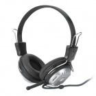 VOICEAO AML021049 Stereo Headphone w/ Microphone - Black + Silver (3.5mm Plug / 220cm)