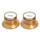 Plastic Tone Knob for Electric Guitar / Bass - Golden (2 PCS)