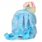 Cartoon Rabbit Doll Style Backpack Bag Toy for Children - Blue + White