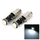 BA9S 3W 18lm 1-SMD 5050 LED White Light Decoded Car Clearance Lamp (12V / 2 PCS)