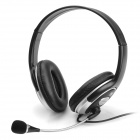 Voiceao VA-5400MV 3.5mm Plug Stereo Headphone w/ Microphone - Black + Silver