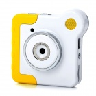 Mini 1.3MP CMOS Kids Digital Rotatable Camera Toy w/ TF / USB - Yellow + White