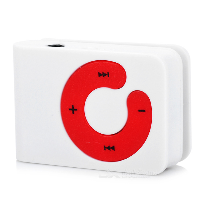 Stylish Button MP3 Player w/ TF - White