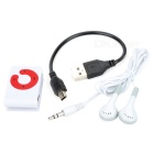 Elegante Button MP3 Player w / TF - Blanco