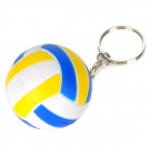 Creative Volleyball Shaped Sponge + Stainless Steel Keychain - Blue