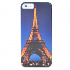 Eiffel Tower Pattern Protective PC Back Case for iPhone 5 - Blue + Yellow