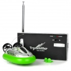 Water 2-Channel Radio Remote Control Hovercraft - Green + Silver + Black