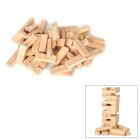 Creative Domino Jenga Wooden High Tower Set - Light Ivory