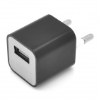 USB EU Plug Power Adapter für iPhone 5 - Black
