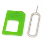 Micro SIM Card to Standard SIM Card Adapter - Green