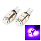 DianZi 109CP G4 1.62W 118lm 9-SMD 5050 LED Purple Light Car Decoration Lamp (12V / 2 PCS)