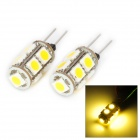 DianZi 109CNW G4 1.62W 168lm 9-SMD 5050 LED Warm White Light Car Decoration Lamp (12V / 2 PCS)