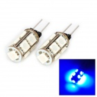 DianZi 109CB G4 1.62W 135lm 9-SMD 5050 LED Blue Light Car Decoration Lamp (12V / 2 PCS)