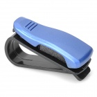 Car Vehicle Sun Visor Clip Sunglasses / Eyeglass Holder - Blue