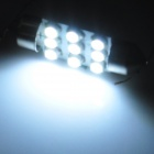 Festoon 36mm 1.2W 130lm 9-SMD 1210 LED White Light Anti-Seismic Car Reading Lamp (12V / 2 PCS)