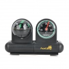 AceCamp 3126 2-in-1 Auto Compass Thermometer w/ Self-Adhesive Tape - Black