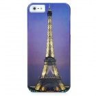 Magnificent Eiffel Tower Pattern Protective PC Hard Back Case for iPhone 5 - Purple