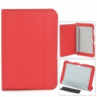Protective PU Leather Case for Samsung Galaxy Note 10.1 N8000 - Red