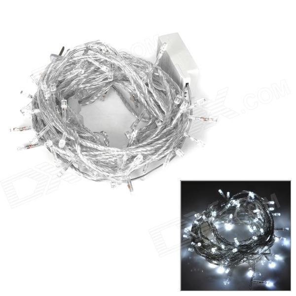 6W 100-LED 8-Mode White Light Decorative Strip w/ Controller (10m / AC 110V / 2-Flat-Pin Plug)