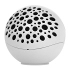 GUCEE X1 Portable Bluetooth V3.0 + EDR Stereo Speaker w/ Microphone for Iphone / Ipad - White