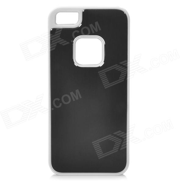 HS-SJG-024 Protective Aluminum + Plastic Hard Back Case for Iphone 5 - Black