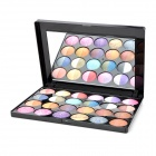 Cosmetic 24-in-1 Makeup Baked Eye Shadow Powder Palette w/ Mirror - Multicolored