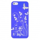 Butterfly Pattern Protective PC Plastic Case - Purple + Silver