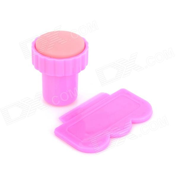 DIY Nail Art Scraper Stamp Tool Set - Deep Pink