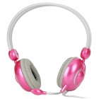 Feinier FE926 Stereo Headphone w/ Microphone - Deep Pink (3.5mm Plug)